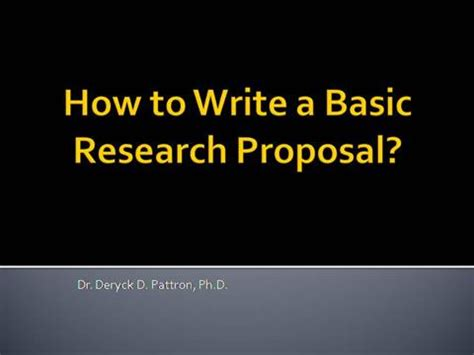 A Sample of Research Proposal Outlines and Papers